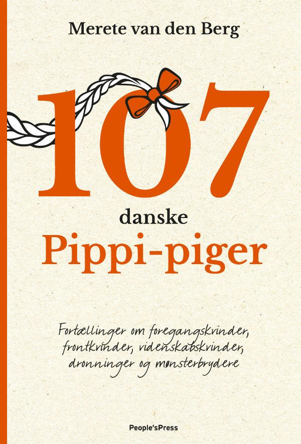 Forsiden på bogen '107 danske Pippi-piger'